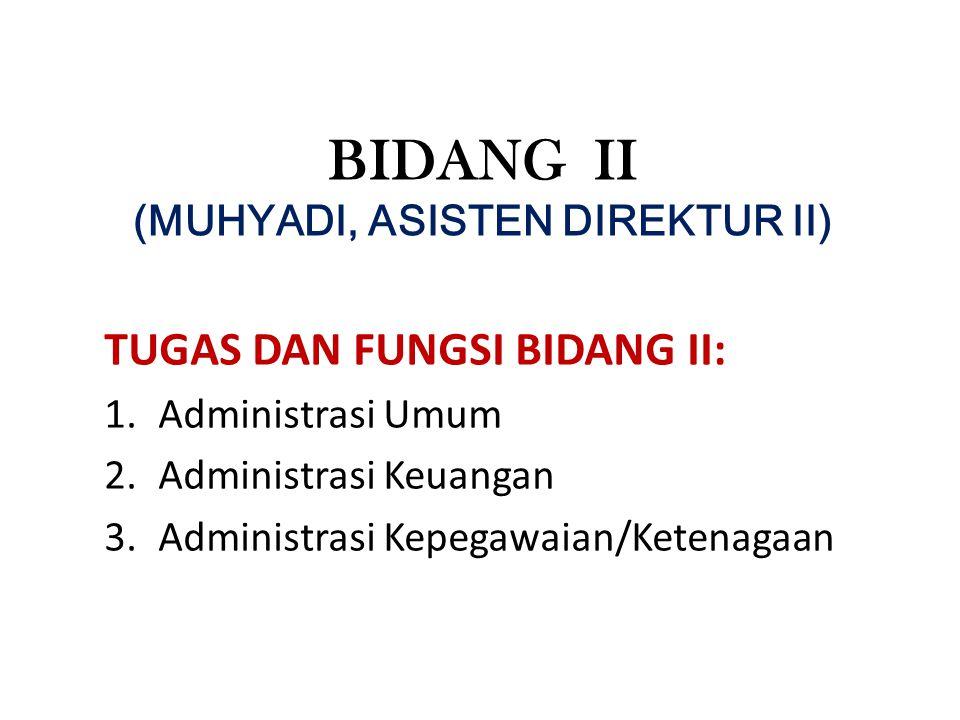 BIDANG II (MUHYADI, ASISTEN DIREKTUR II)