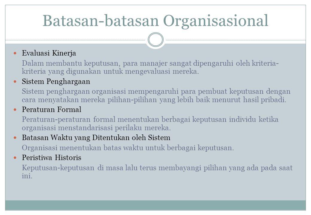 Batasan-batasan Organisasional