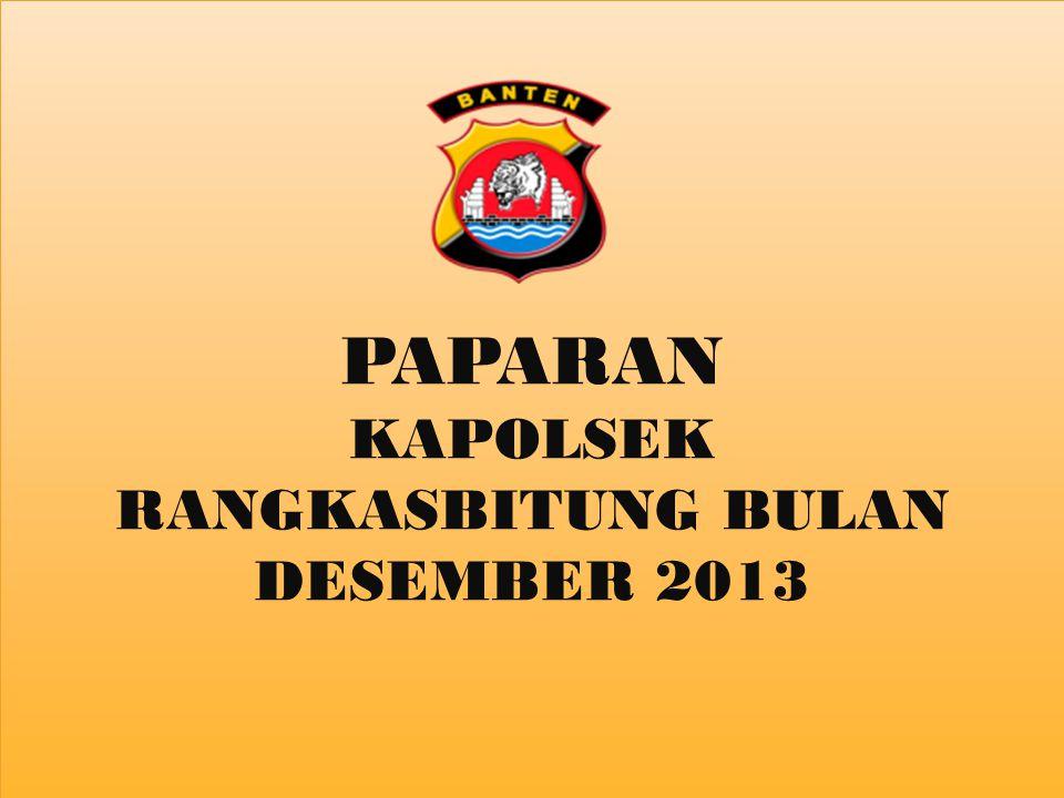 KAPOLSEK RANGKASBITUNG BULAN DESEMBER 2013