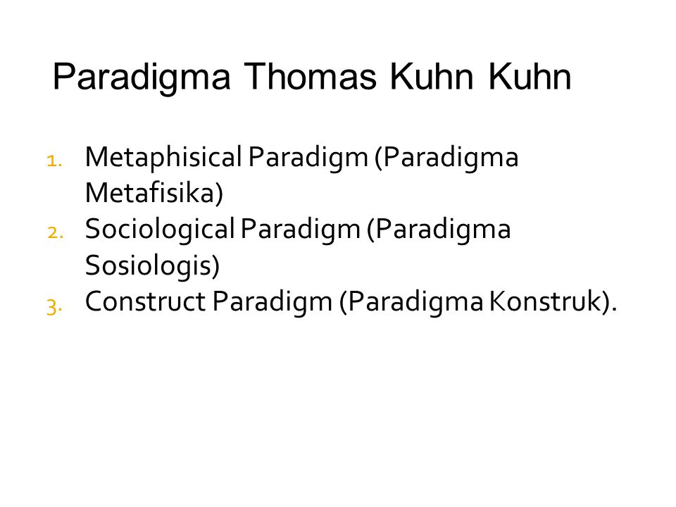 Paradigma Thomas Kuhn Kuhn