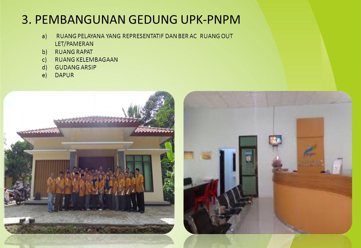 3. PEMBANGUNAN GEDUNG UPK-PNPM