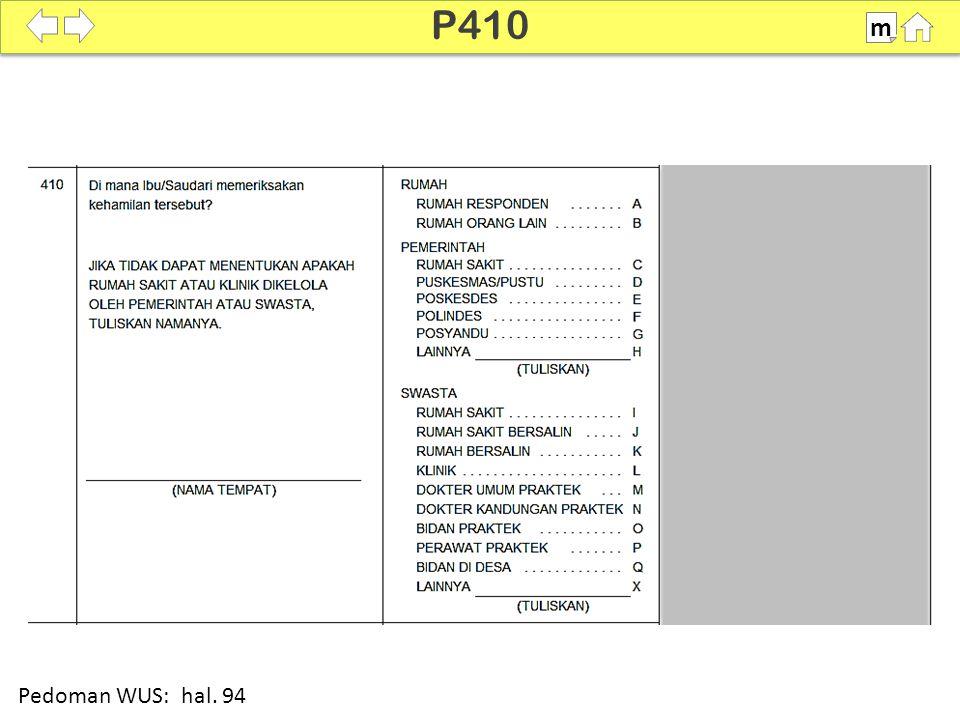 P410 m 100% Pedoman WUS: hal. 94