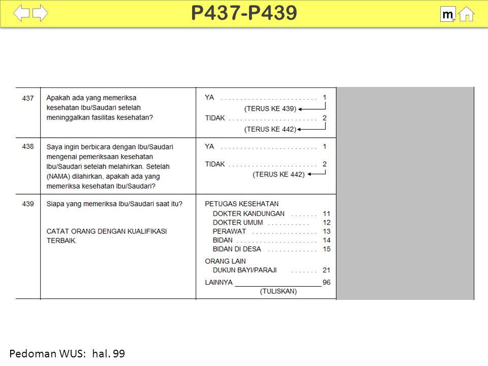 P437-P439 m SDKI 2012 100% Pedoman WUS: hal. 99