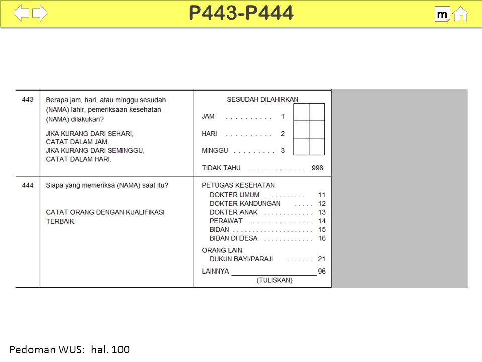 P443-P444 m SDKI 2012 100% Pedoman WUS: hal. 100