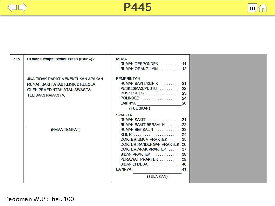P445 m SDKI 2012 100% Pedoman WUS: hal. 100
