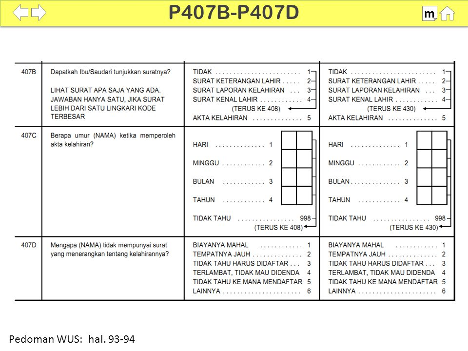 P407B-P407D m 100% Pedoman WUS: hal. 93-94