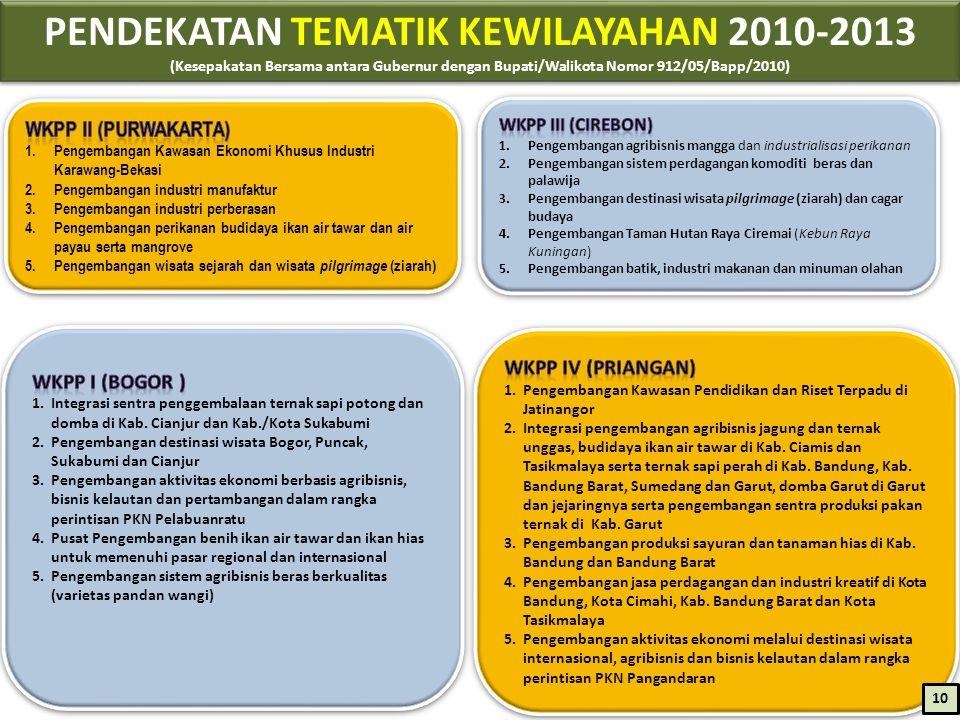 PENDEKATAN TEMATIK KEWILAYAHAN 2010-2013