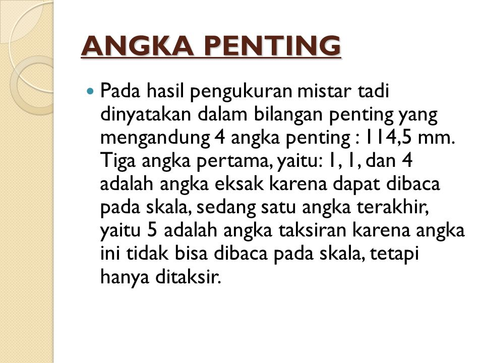 ANGKA PENTING