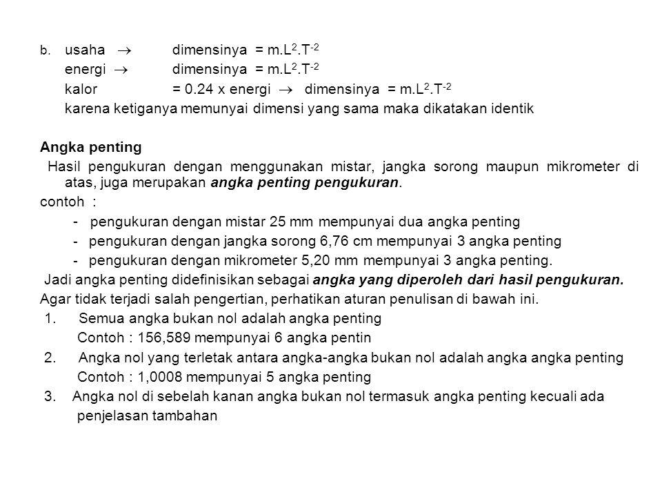 energi  dimensinya = m.L2.T-2