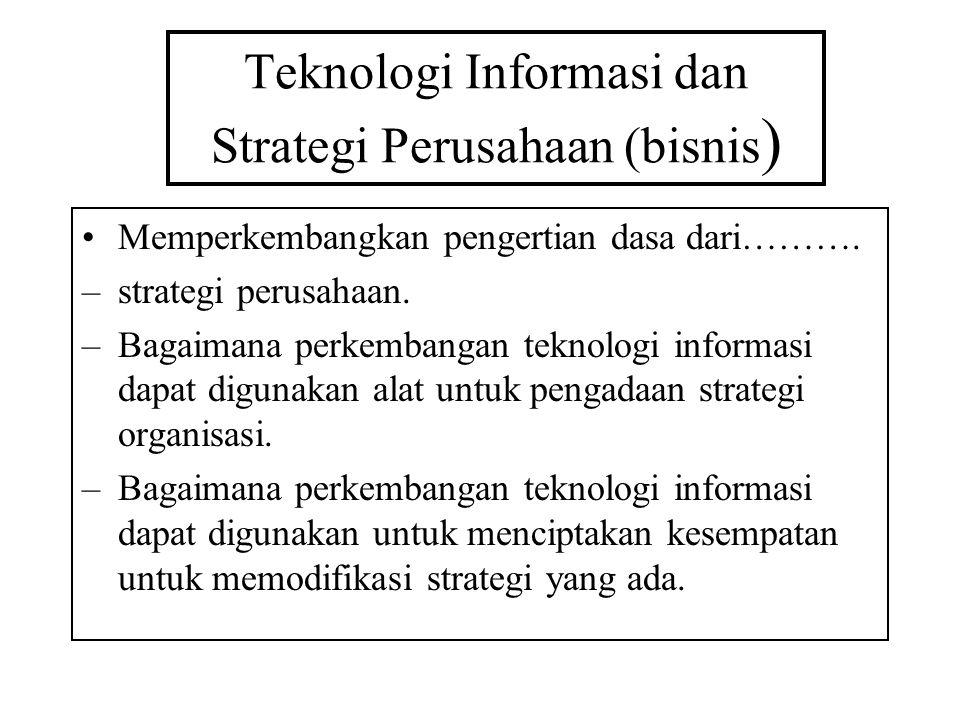 Teknologi Informasi dan Strategi Perusahaan (bisnis)
