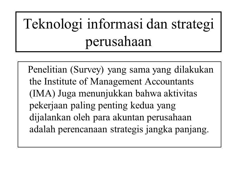 Teknologi informasi dan strategi perusahaan