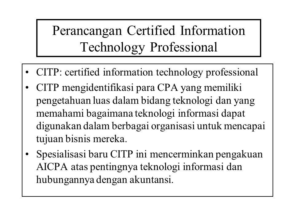 Perancangan Certified Information Technology Professional