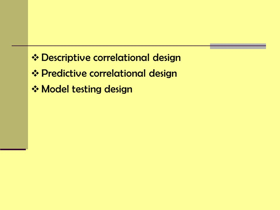 Descriptive correlational design