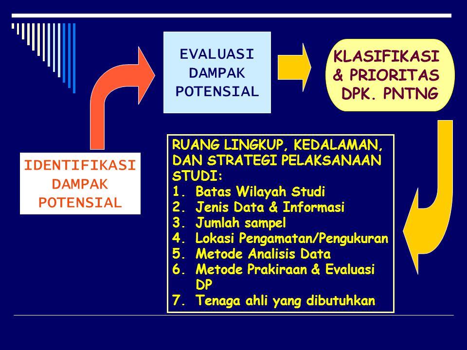 EVALUASI KLASIFIKASI DAMPAK & PRIORITAS POTENSIAL DPK. PNTNG