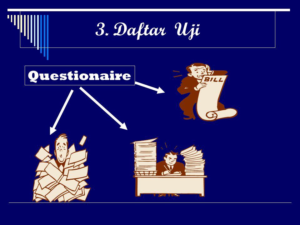 3. Daftar Uji Questionaire