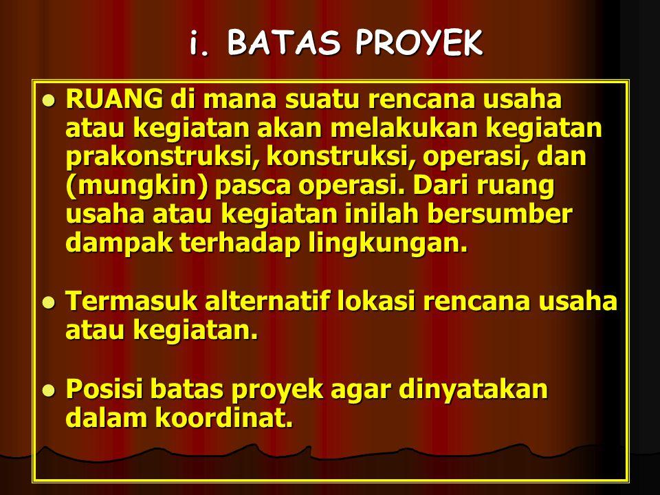 i. BATAS PROYEK