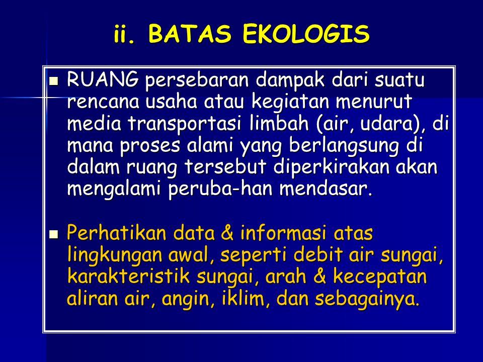 ii. BATAS EKOLOGIS