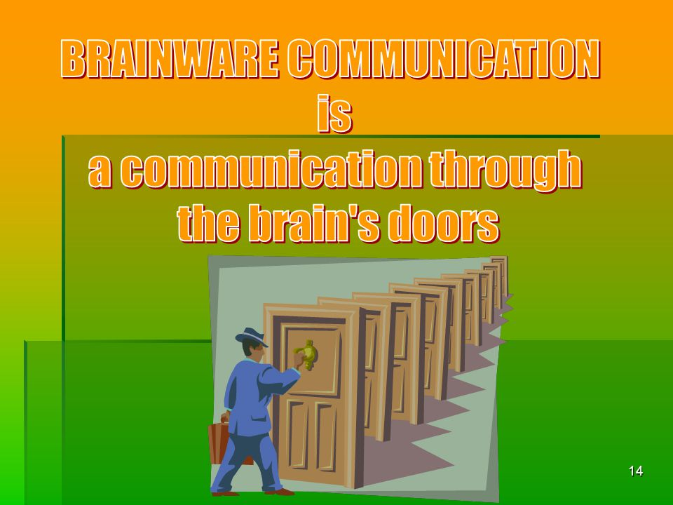 BRAINWARE COMMUNICATION is a communication through the brain s doors
