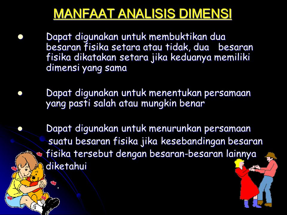 MANFAAT ANALISIS DIMENSI