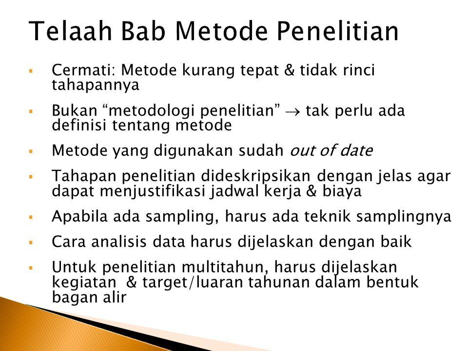 Telaah Bab Metode Penelitian