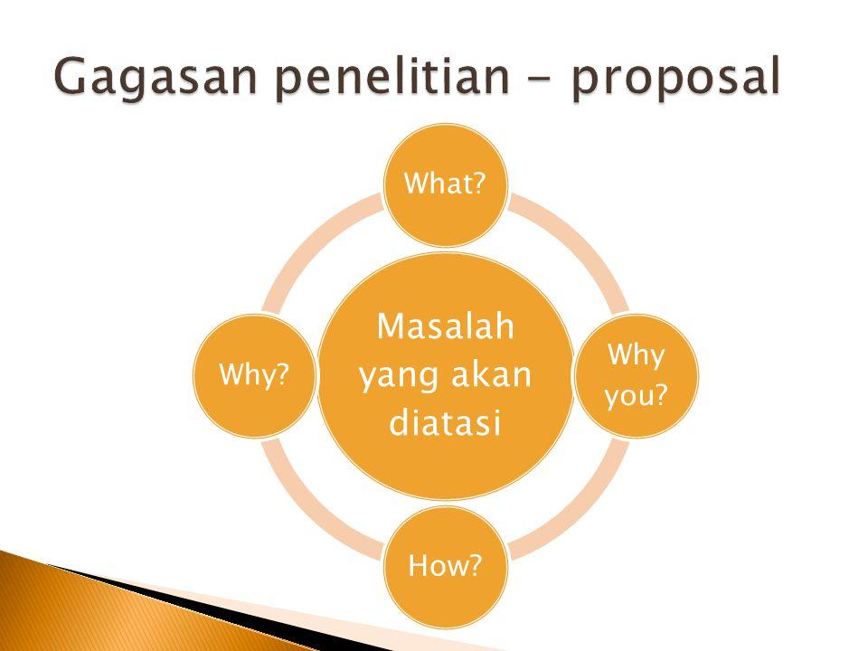 Gagasan penelitian - proposal