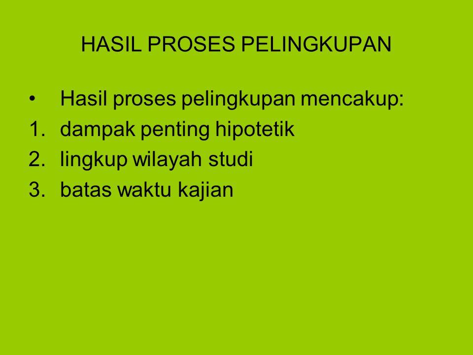 HASIL PROSES PELINGKUPAN