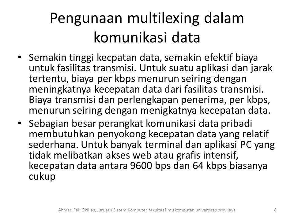 Pengunaan multilexing dalam komunikasi data