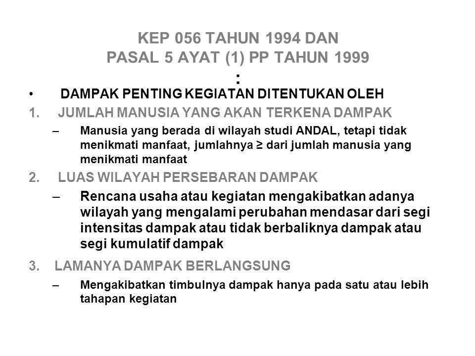 KEP 056 TAHUN 1994 DAN PASAL 5 AYAT (1) PP TAHUN 1999 :
