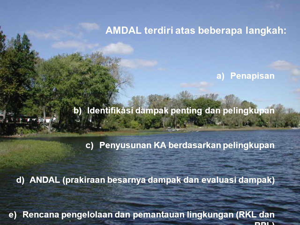 AMDAL terdiri atas beberapa langkah: