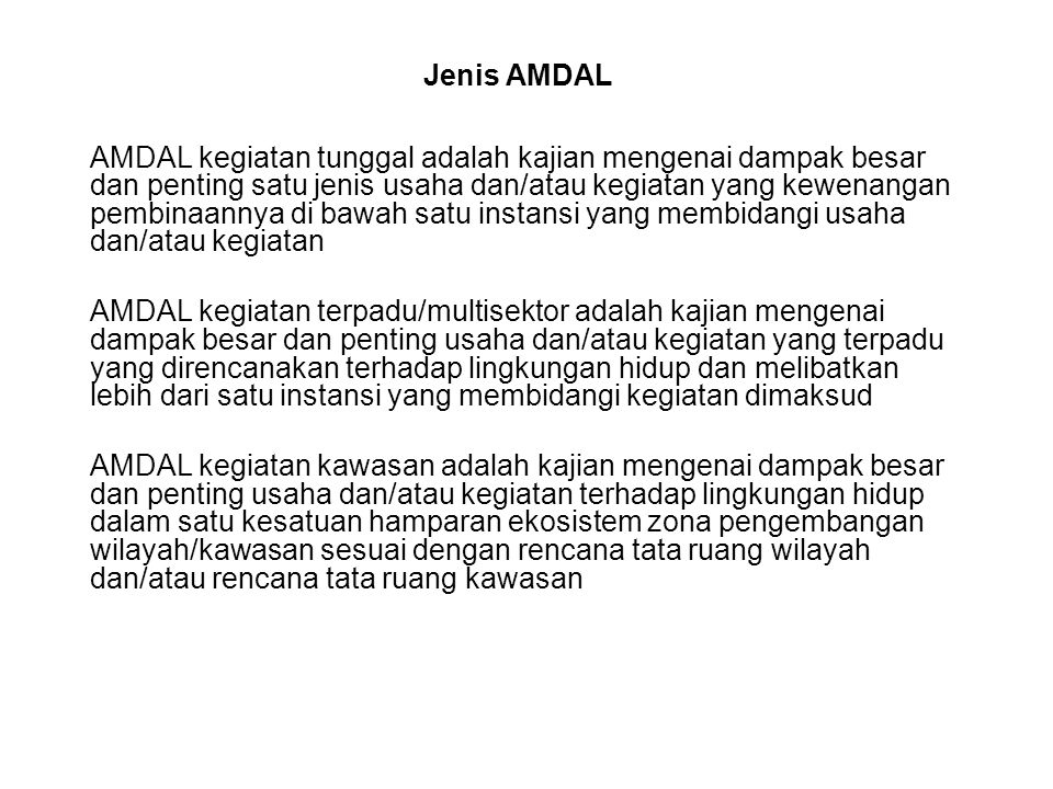 Jenis AMDAL