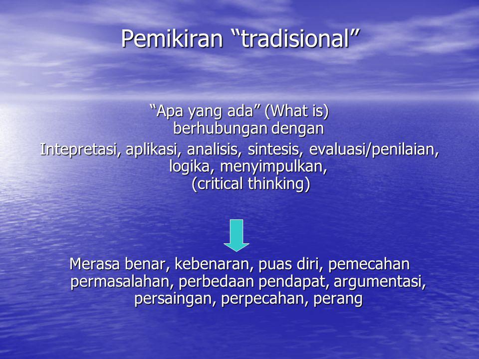 Pemikiran tradisional