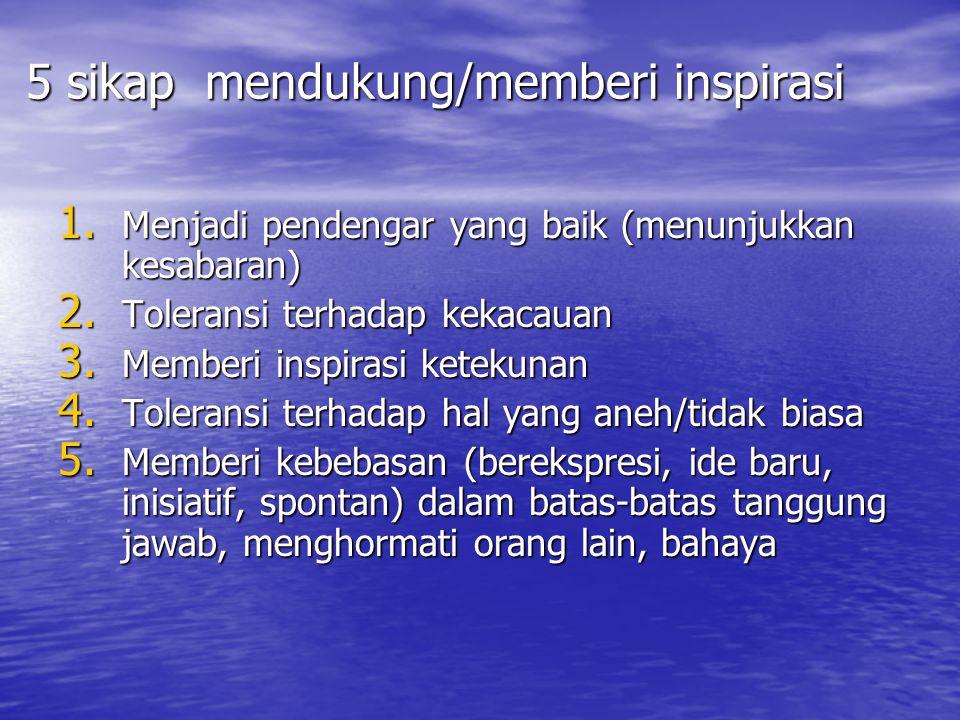 5 sikap mendukung/memberi inspirasi