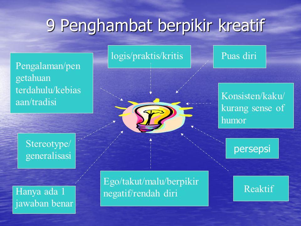 9 Penghambat berpikir kreatif