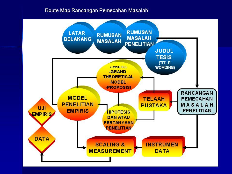 Route Map Rancangan Pemecahan Masalah