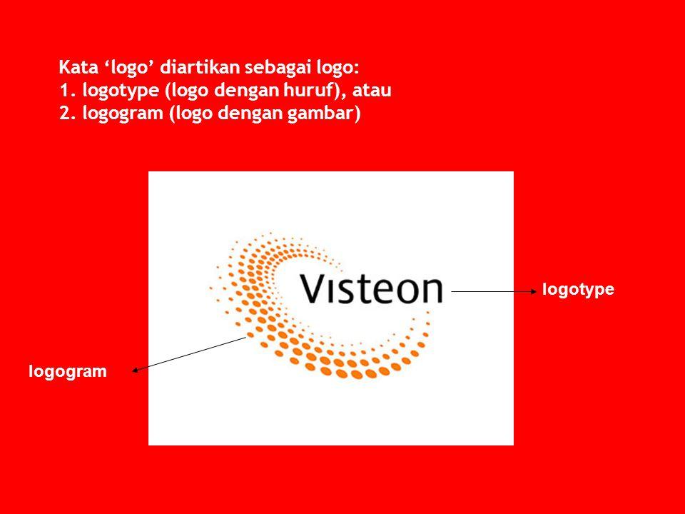 Kata 'logo' diartikan sebagai logo: