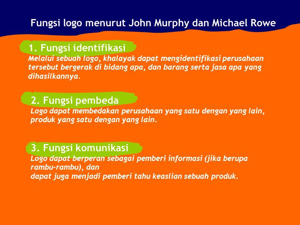 Fungsi logo menurut John Murphy dan Michael Rowe