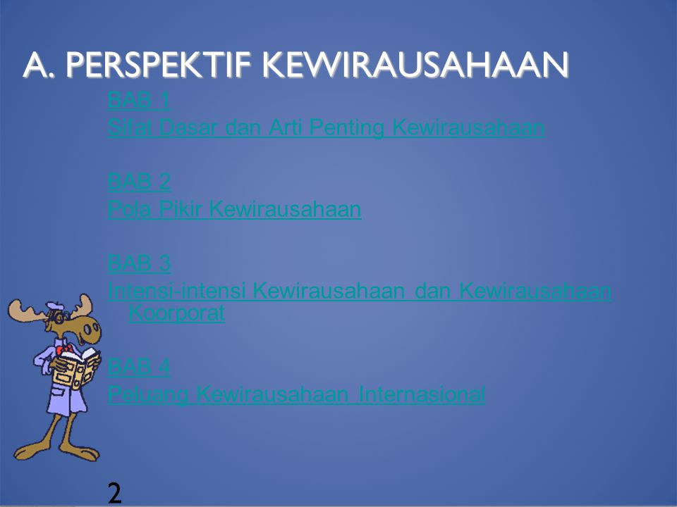 A. PERSPEKTIF KEWIRAUSAHAAN