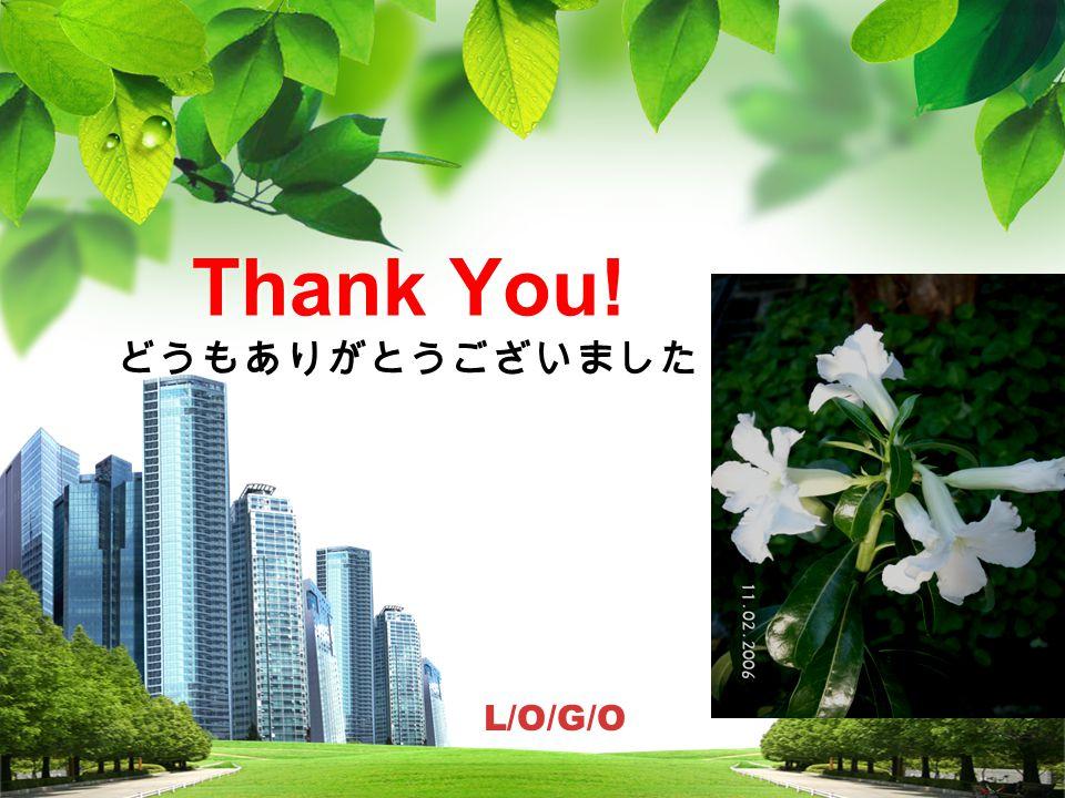 Thank You! どうもありがとうございました