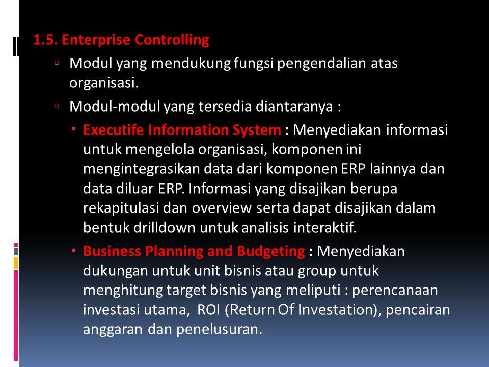 1.5. Enterprise Controlling