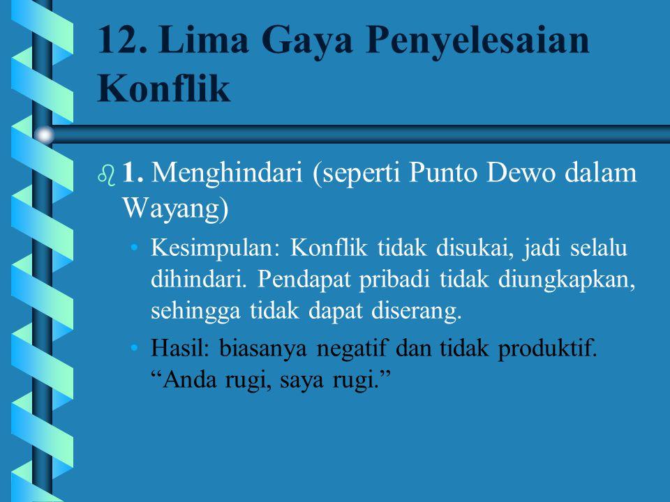 12. Lima Gaya Penyelesaian Konflik
