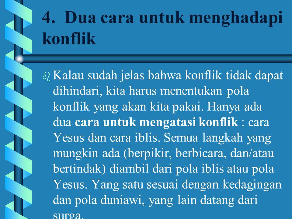 4. Dua cara untuk menghadapi konflik