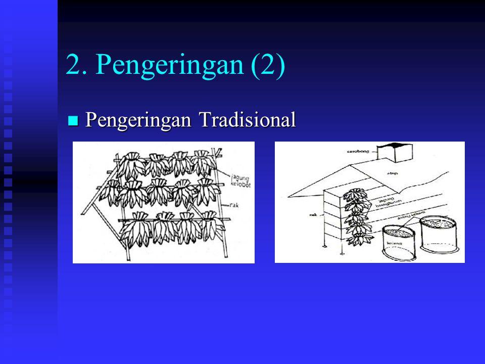 2. Pengeringan (2) Pengeringan Tradisional