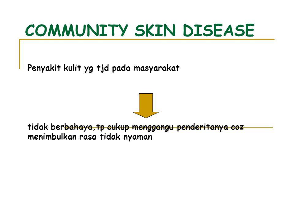 COMMUNITY SKIN DISEASE
