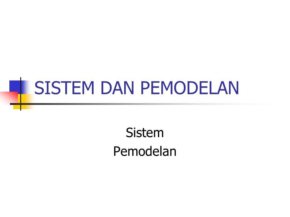 SISTEM DAN PEMODELAN Sistem Pemodelan