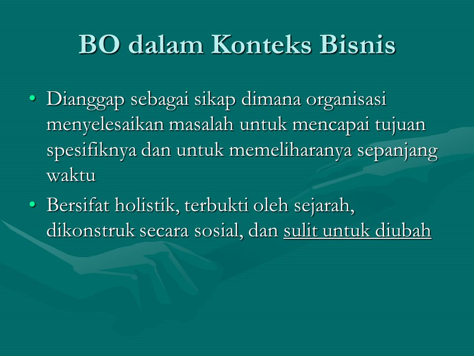 BO dalam Konteks Bisnis