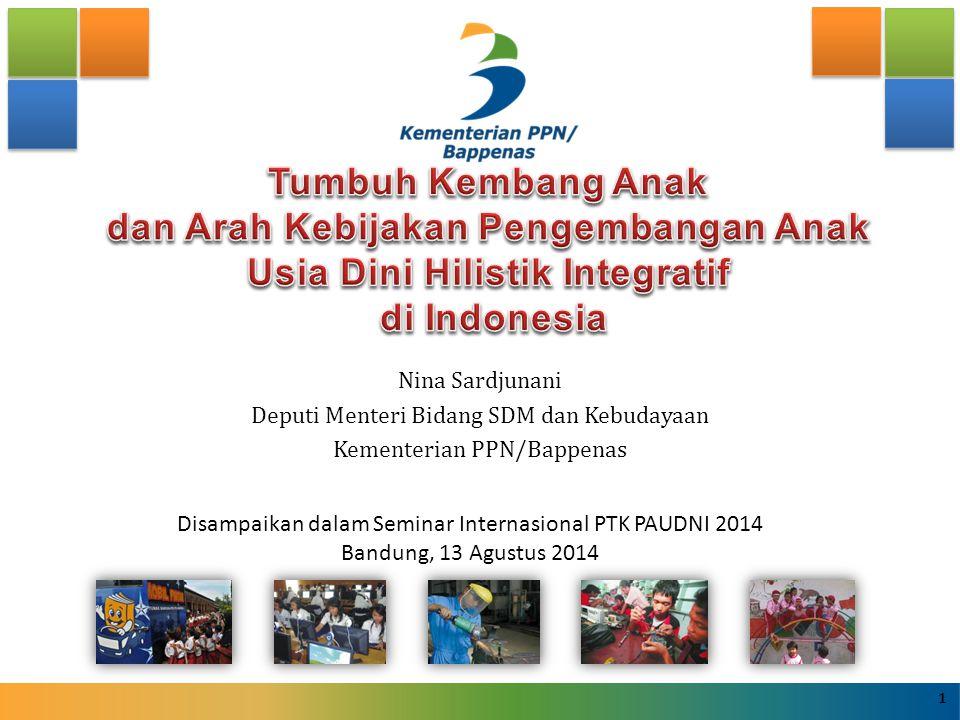 Tumbuh Kembang Anak dan Arah Kebijakan Pengembangan Anak Usia Dini Hilistik Integratif di Indonesia