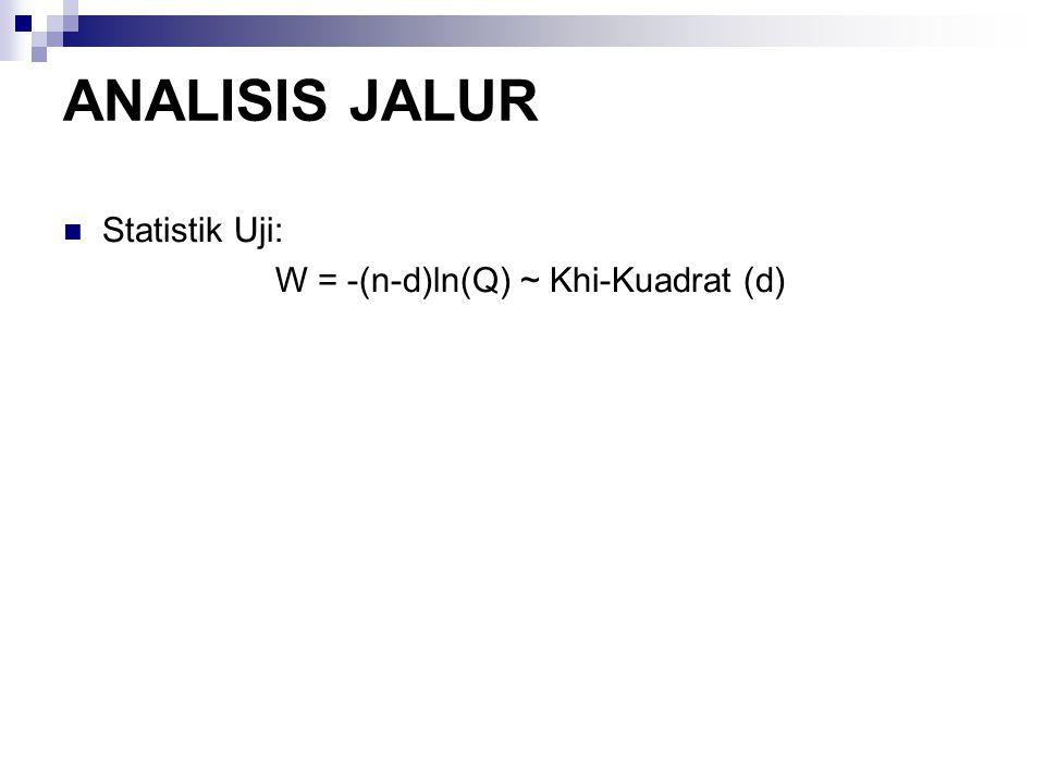 W = -(n-d)ln(Q) ~ Khi-Kuadrat (d)