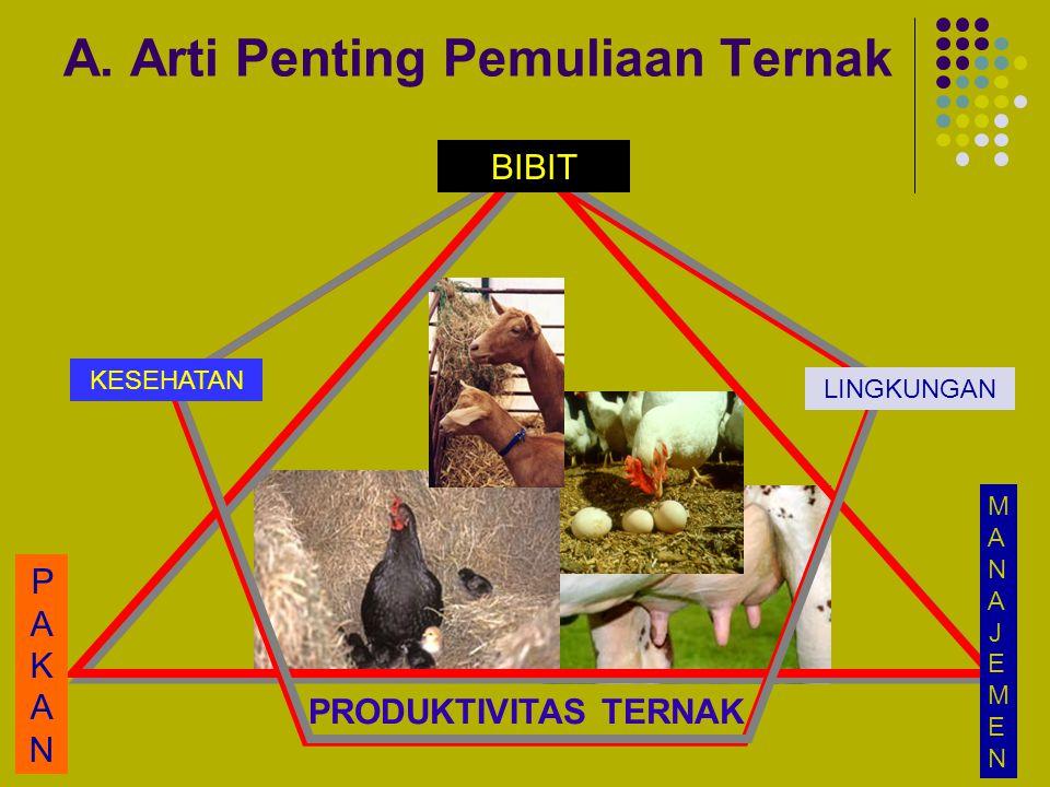 A. Arti Penting Pemuliaan Ternak