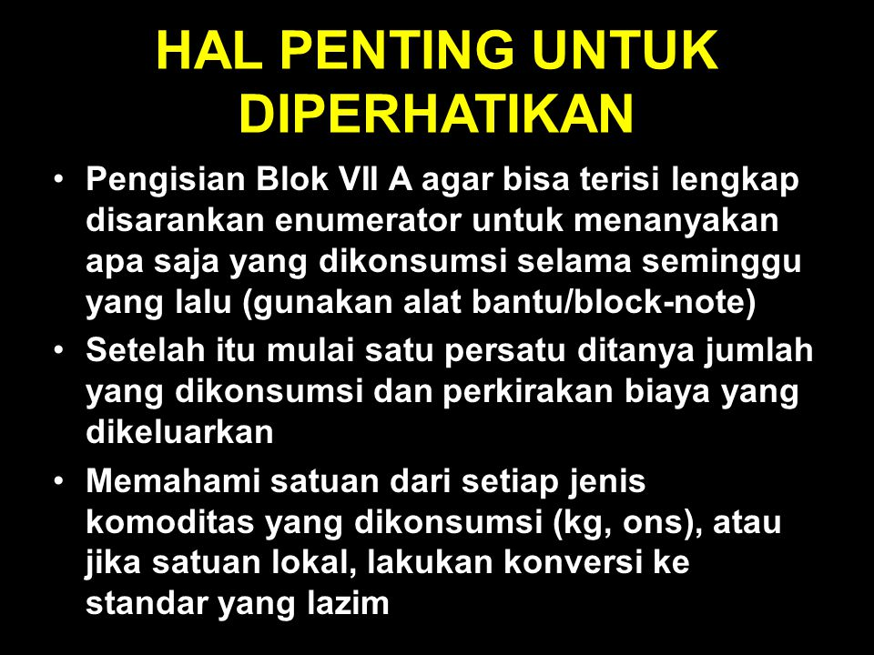 HAL PENTING UNTUK DIPERHATIKAN