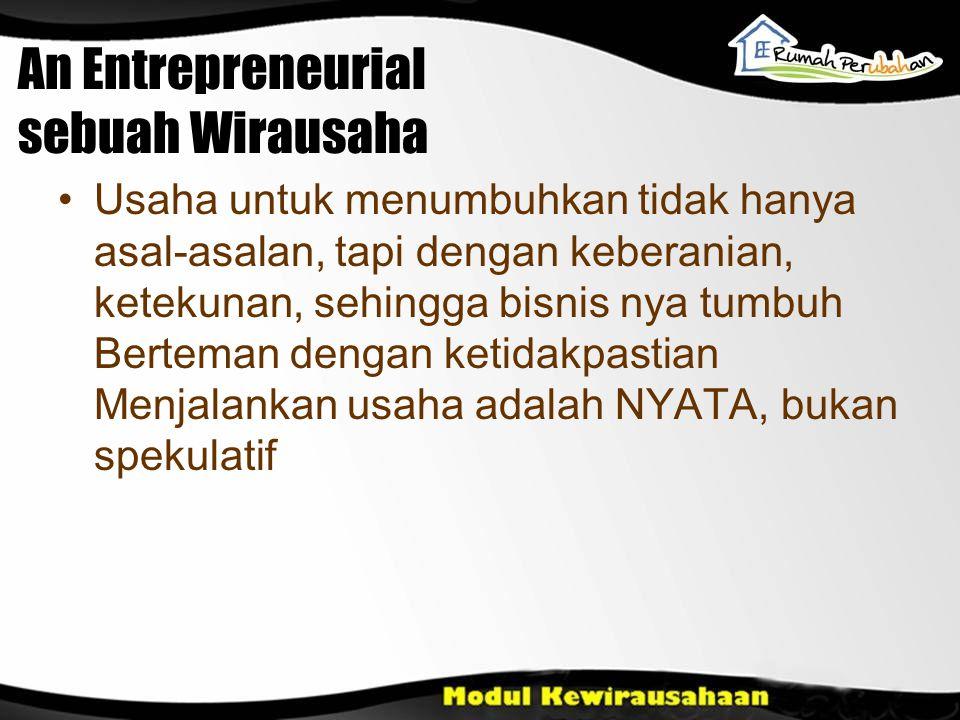 An Entrepreneurial sebuah Wirausaha